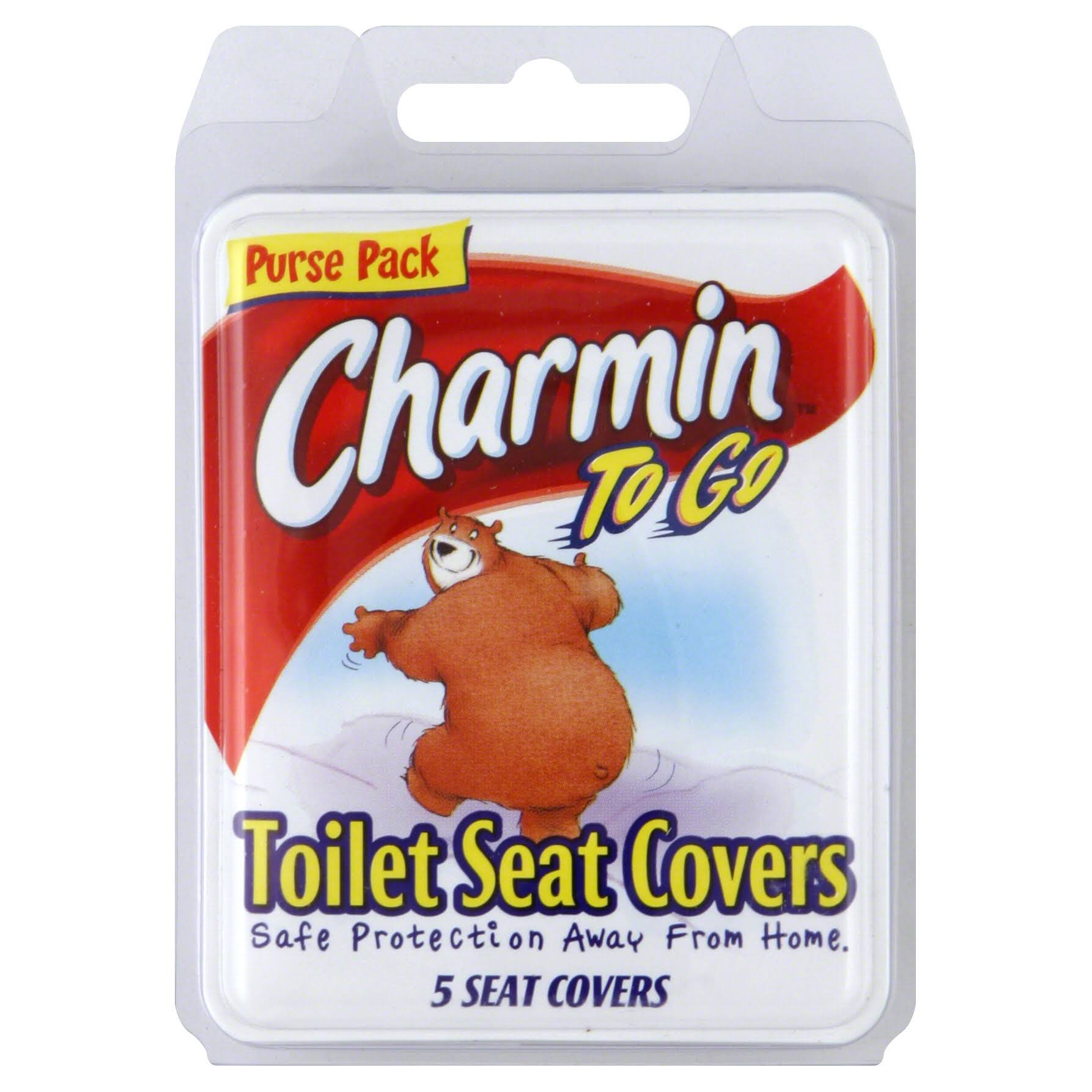 Charmin To Go Toilet Seat Covers Tissue - 5 Seat Covers, Pack of 3