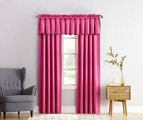 (54X84, Pink) - Sun Zero Kylee Room-Darkening Curtain Panel