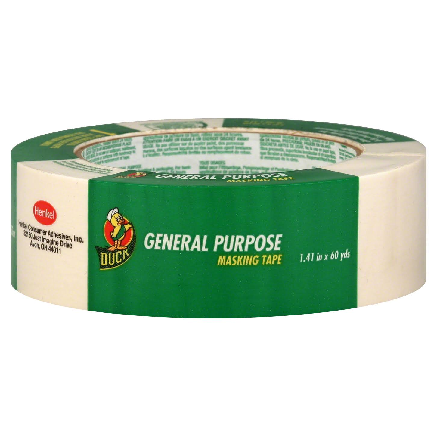 "Duck Brand General Purpose Masking Tape - 1.41"" x 60 Yard"