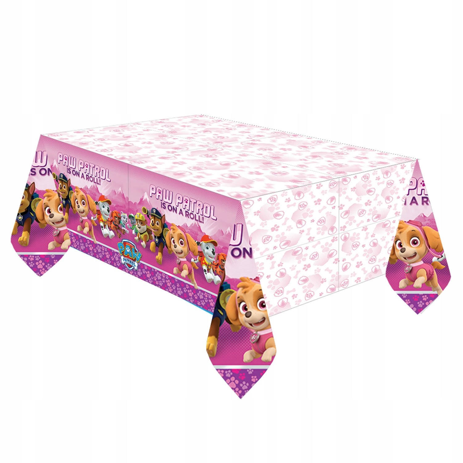 "American Greetings Paw Patrol Plastic Table Cover - Pink, 54"" x 96"""