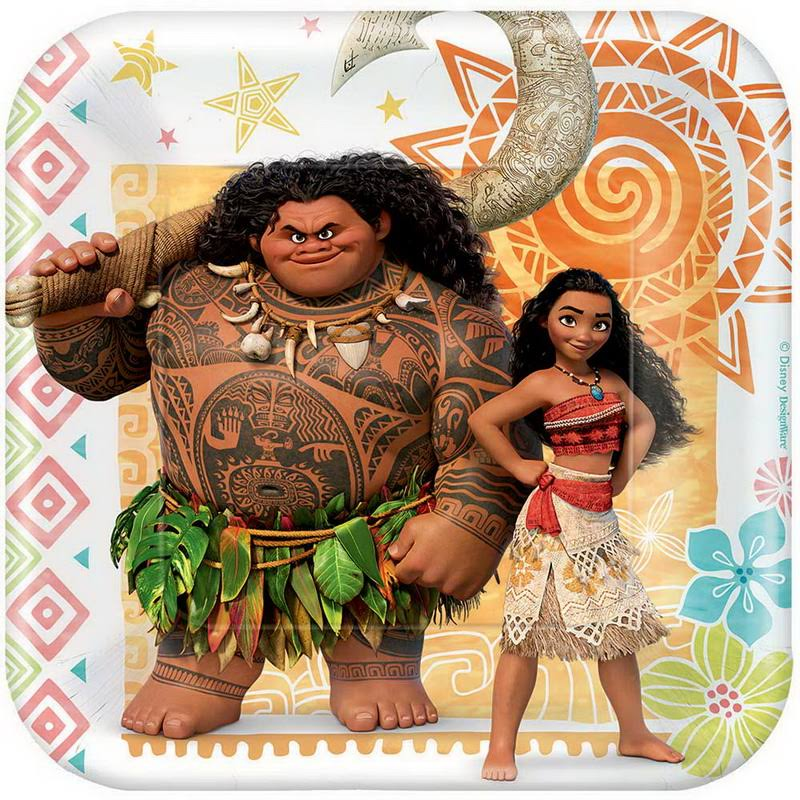 American Greetings Square Plate - Moana, 7""