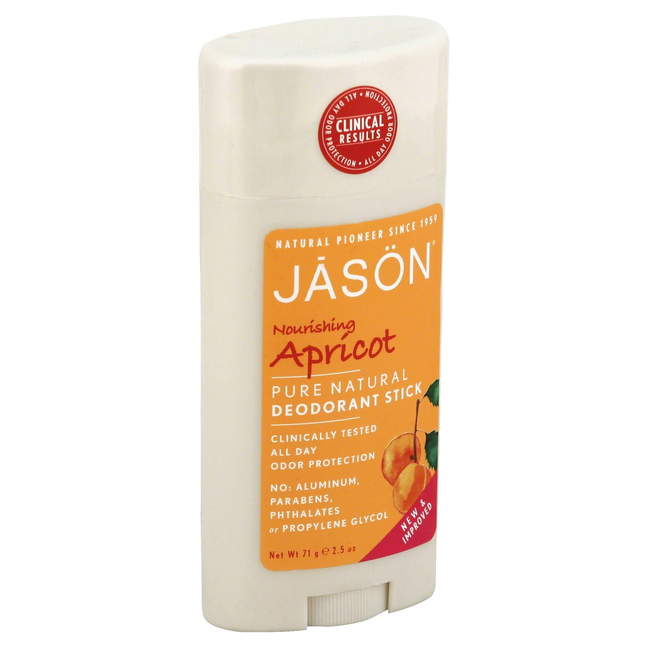 Jason Pure Natural Deodorant Stick - Apricot