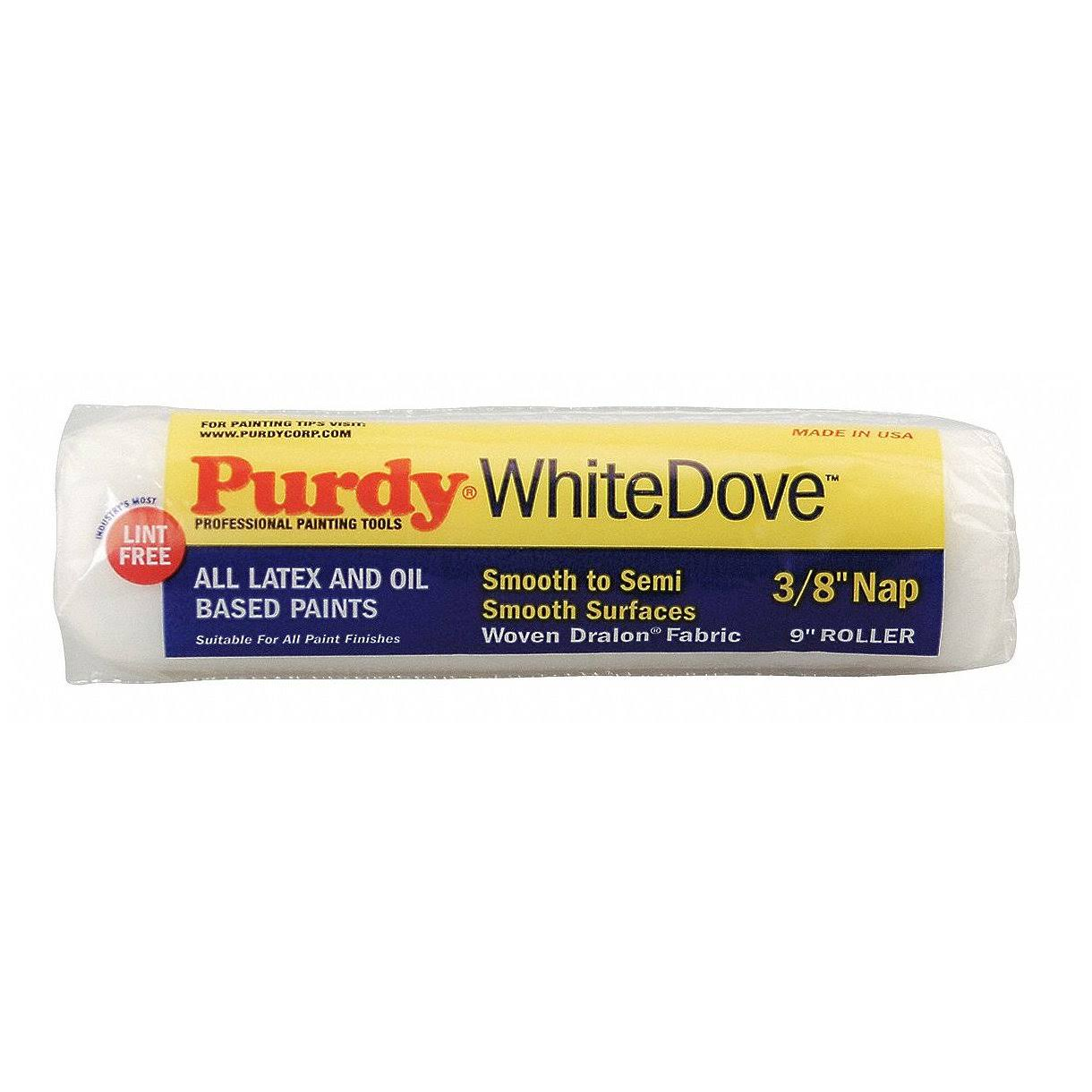"Purdy White Dove Fabric Roller Cover - 9""x3/8"""