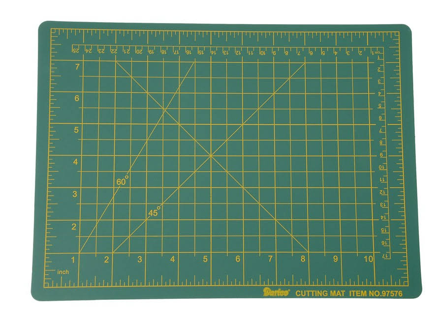 "Darice Small Self Healing Green Cutting Mat 9"" x 12"""