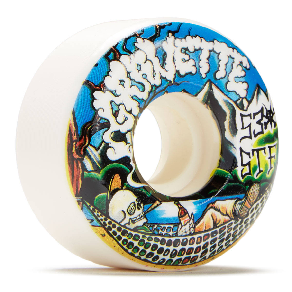 Bones Wheels STF Gravette Outdoors 83B V2 Skateboards Wheels Set - 4pcs Set, 53mm, White