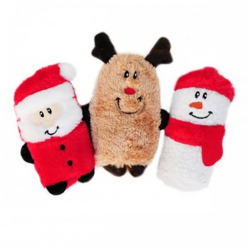 ZippyPaws Holiday Squeakie Buddies Interactive Dog Toy