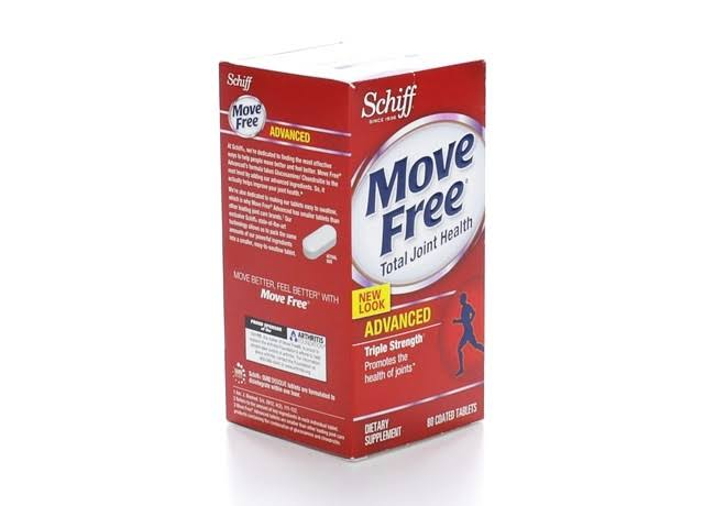 Schiff Move Free Joint Health Advanced with Glucosamine and Chondroitin Tablets - 80ct