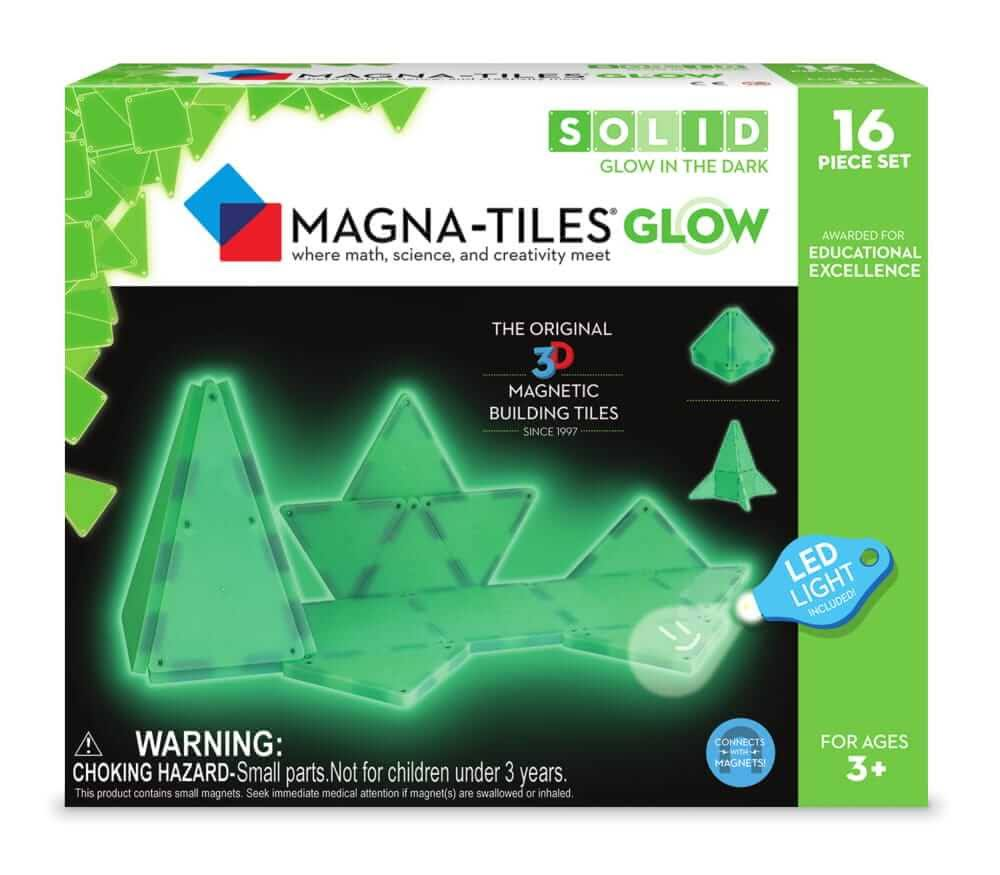 Magna-Tiles Glow in The Dark 16 Piece Set