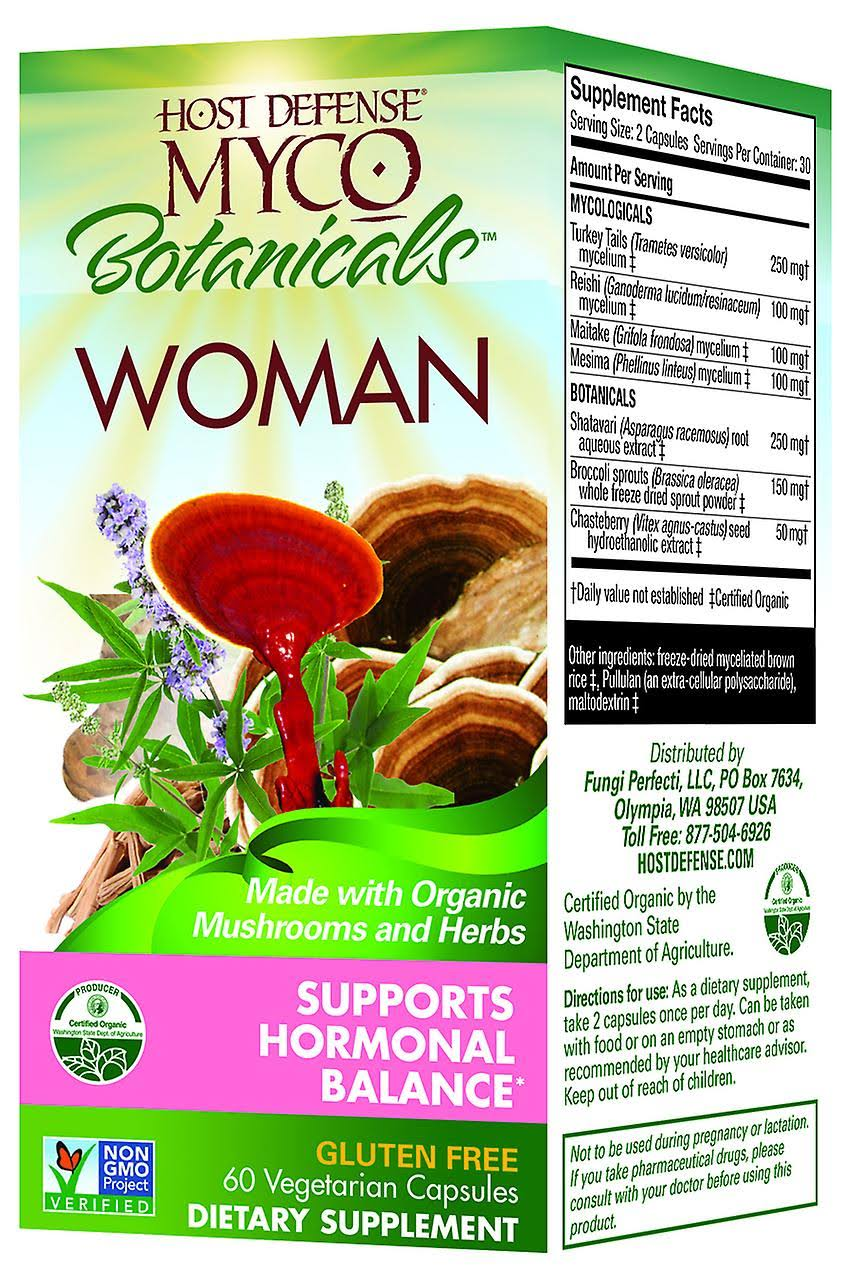 Host Defence Myco Botanicals Woman - 60 Vegetarian Capsules