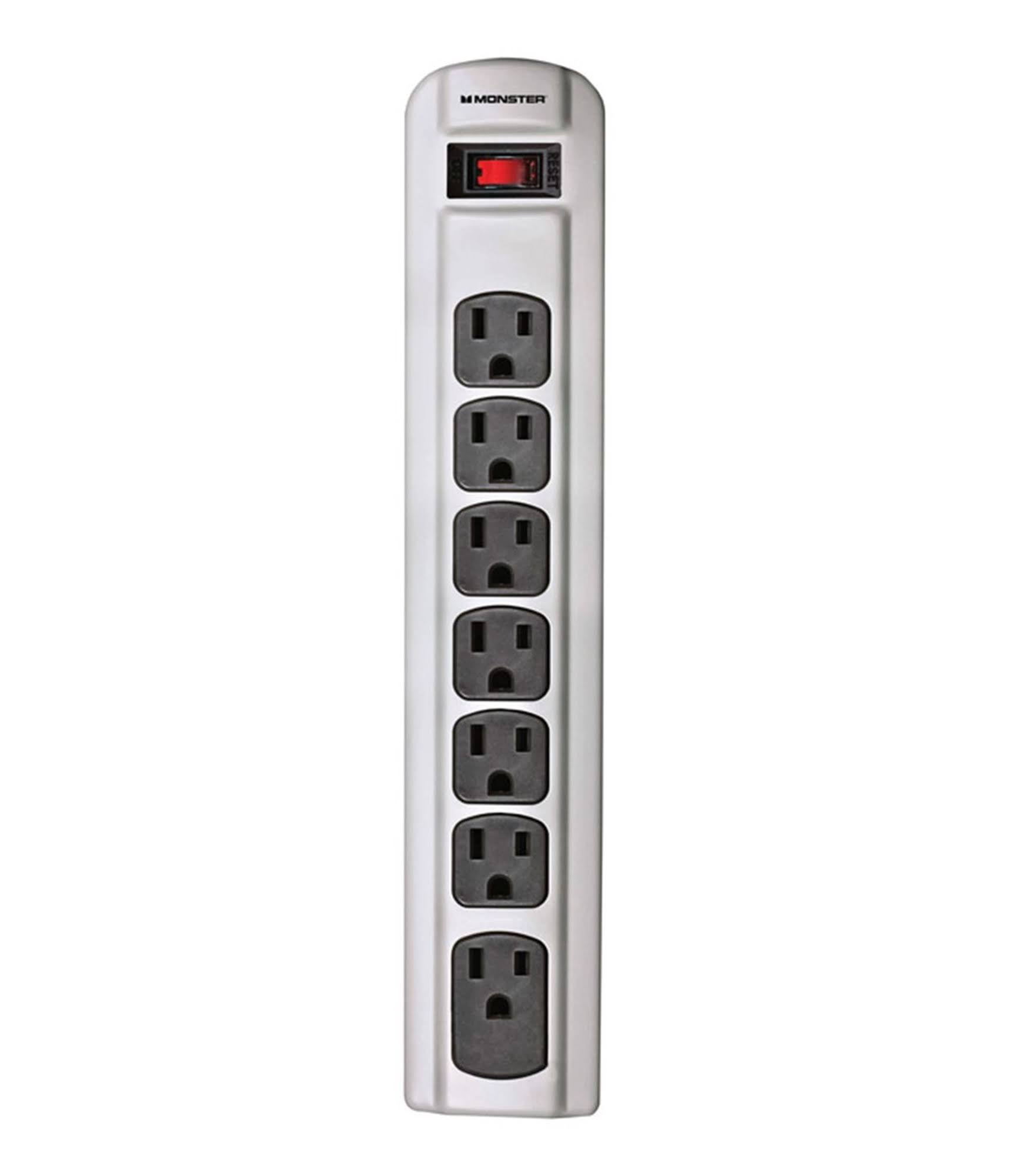 Monster Cable 7 Outlets Power Strip - Grey, 4'