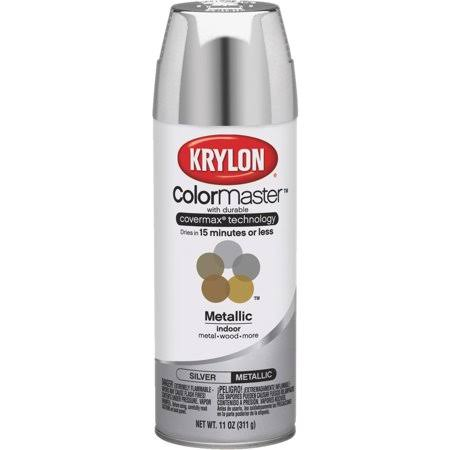 Krylon K05590007 COLORmaxx Spray Paint, Metallic Silver, 12 oz