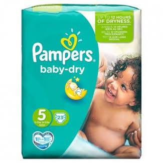 Pampers Baby Dry Nappies - Size 5, 23ct