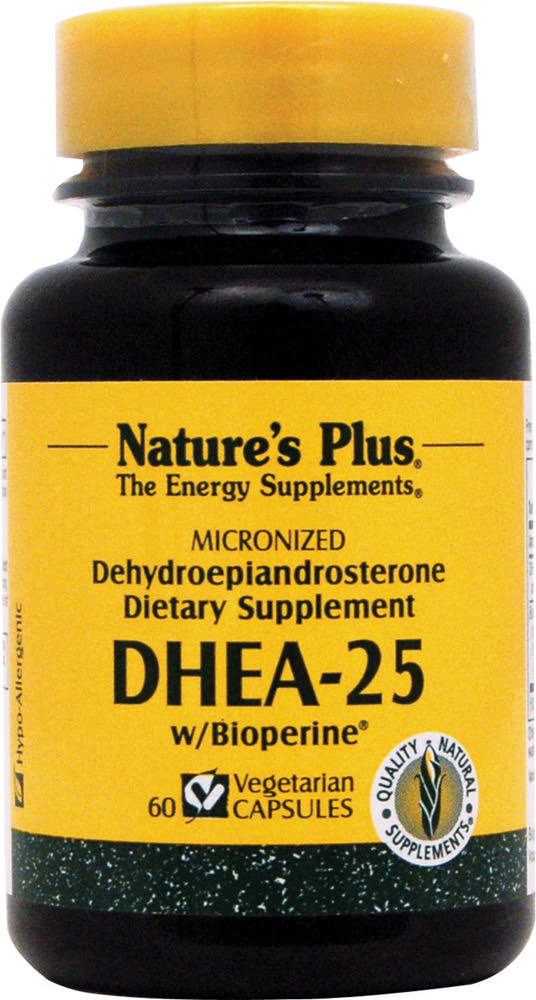 Natures Plus DHEA 25 Dietary Supplement - 60ct