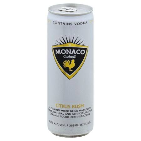 Monaco Cocktail, Citrus Rush - 355 ml