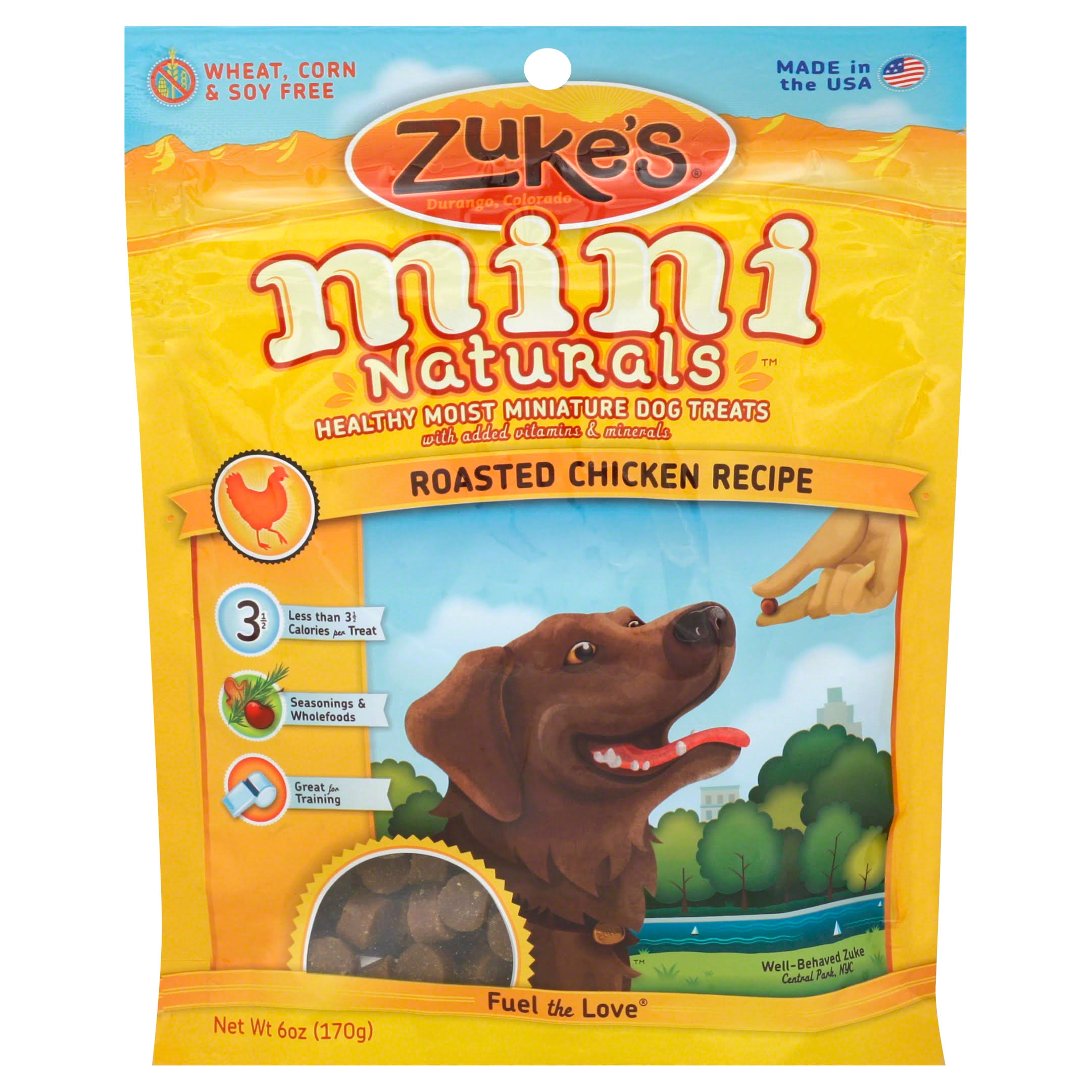 Zuke's Mini Naturals Dog Treats - Roasted Chicken, 6oz