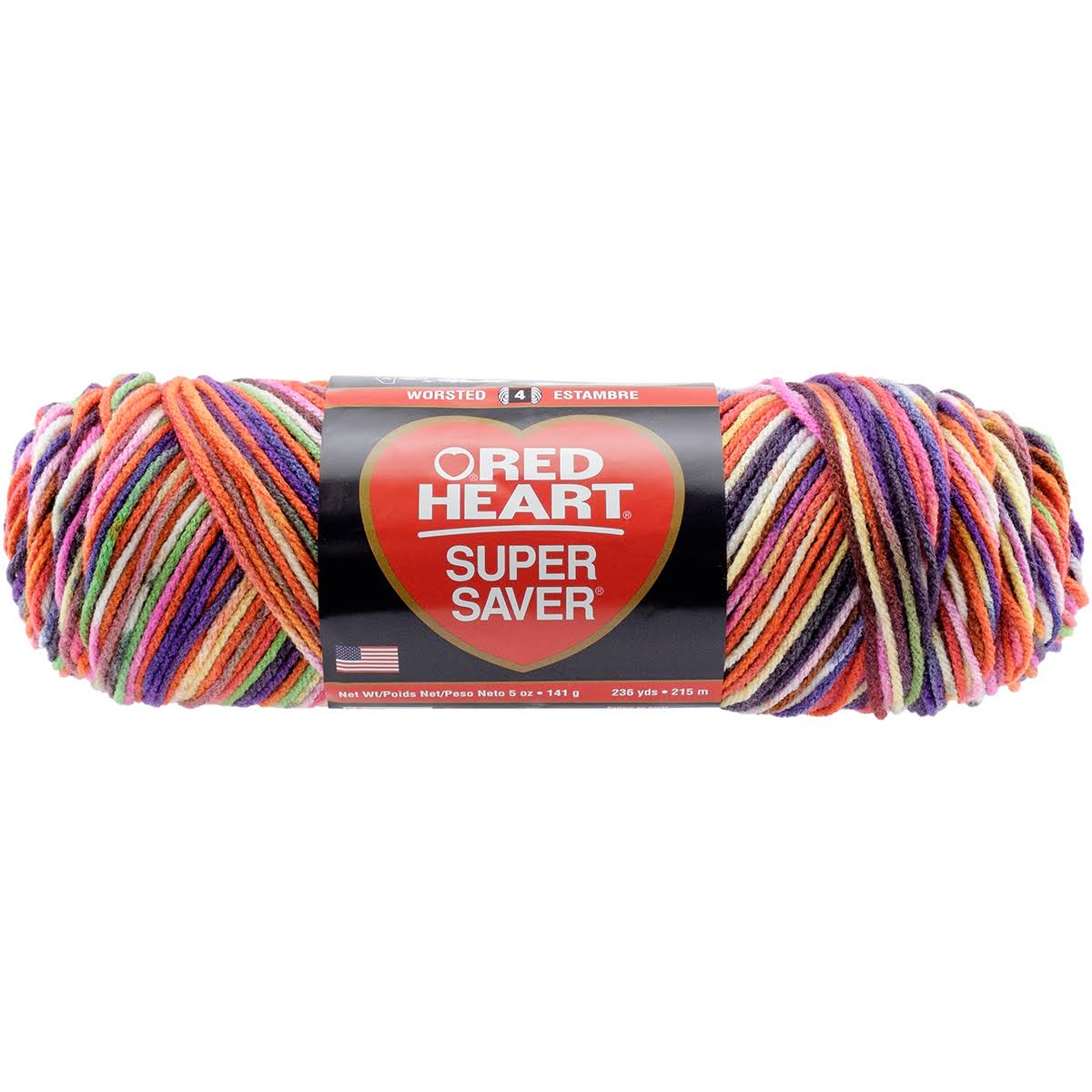 Red Heart Super Saver Yarn - 3953 Butterfly, 236yds