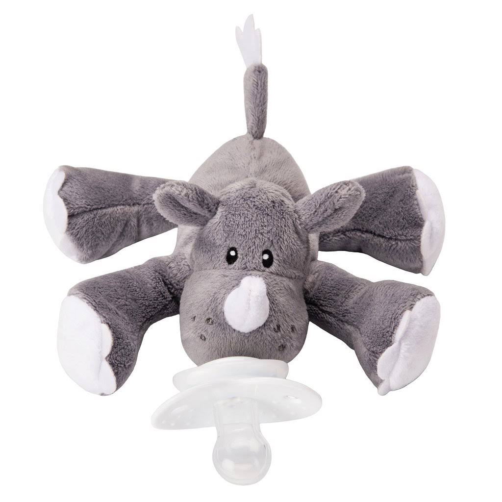 Nookums Paci-Plushies Rhino Buddies Universal Pacifier Holder