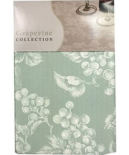 Lintex Sage Green Grapevine Vinyl Tablecloth (52x70 Oblong)