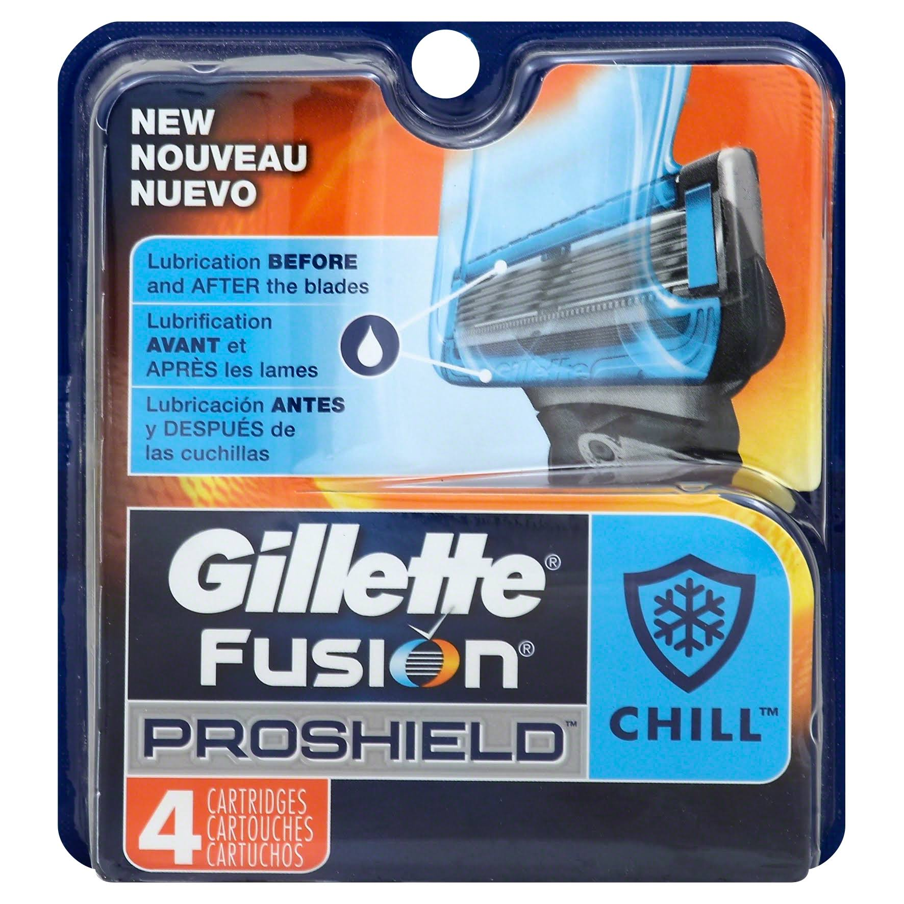Gillette Fusion ProShield Chill Men's Razor Blades - x4