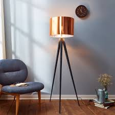 Cheapest Arc Floor Lamps by Teamson Versanora Romanza Tripod Floor Lamp With Copper Shade