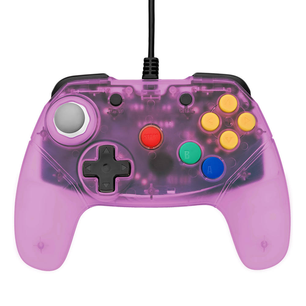 Retro Fighters brawler64 Gamepad Next Gen Controller for N64 - Purple