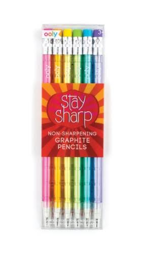 International Arrivals Stay Sharp Graphite Pencils - Set of 6