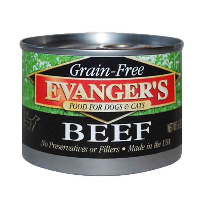 Evanger's Grain Free Dog & Cat Food - Beef, 6oz