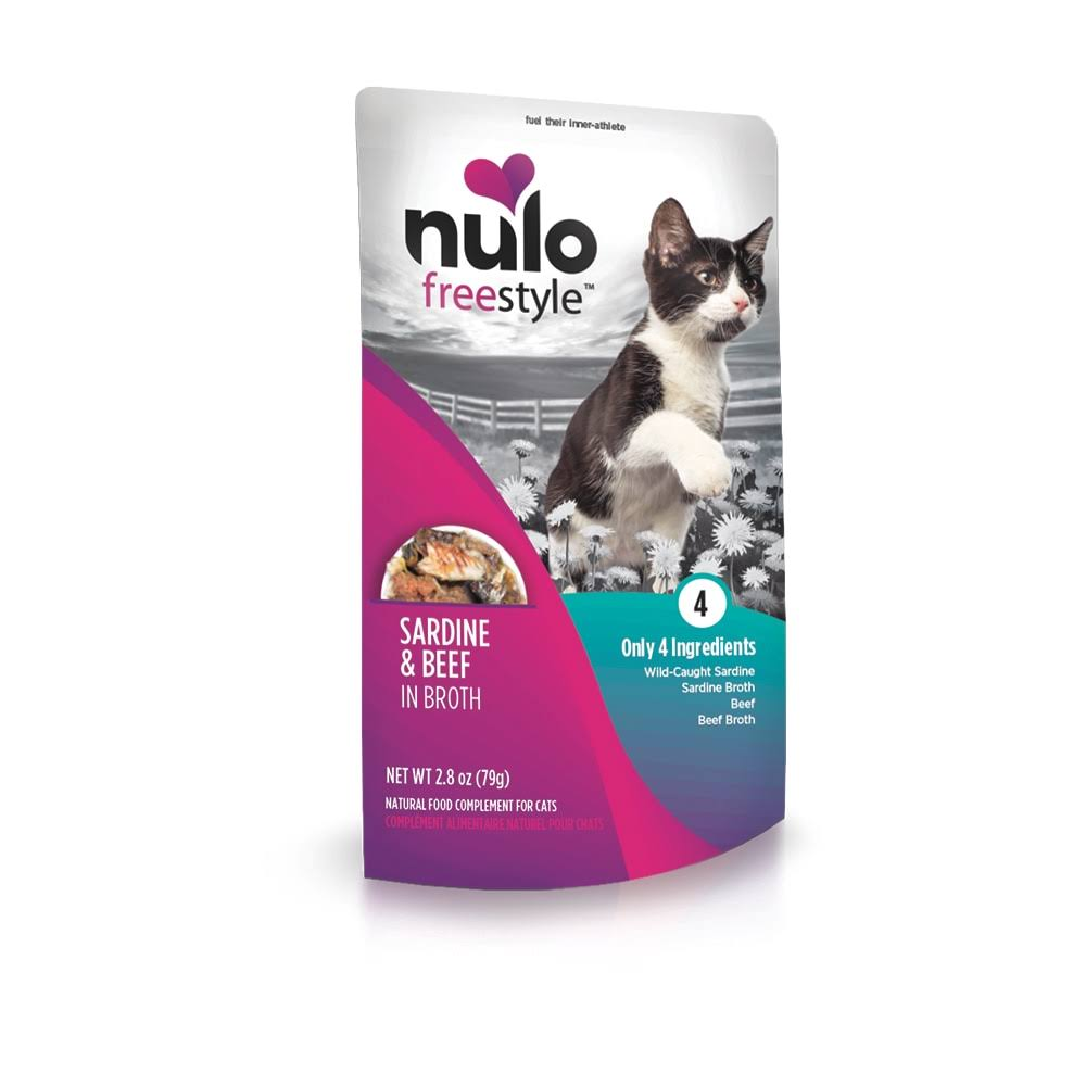 Nulo Freestyle Sardine, Beef in Broth Wet Cat Food, 2.8 oz
