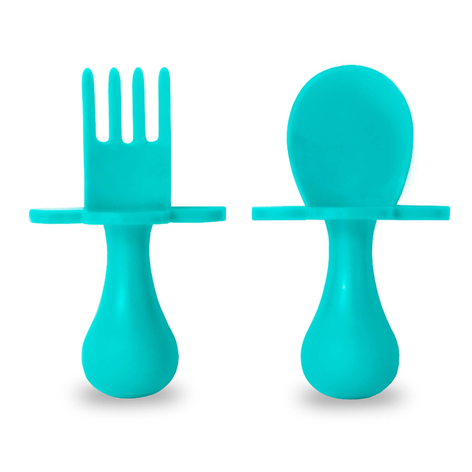 Grabease First Self Feeding Utensil Set - Teal