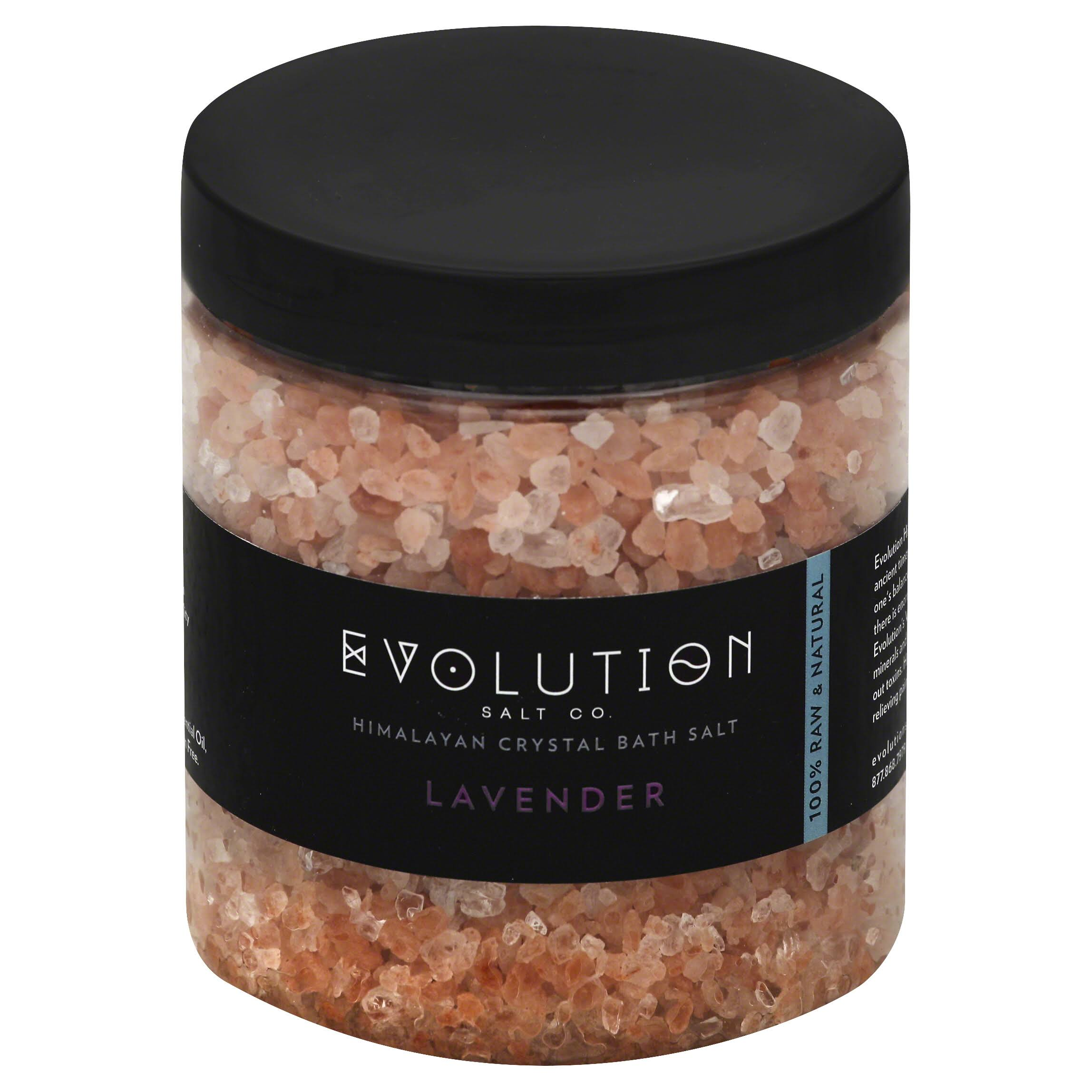 Evolution Salt Himalayan Crystal Bath Salt - Lavender, 26oz