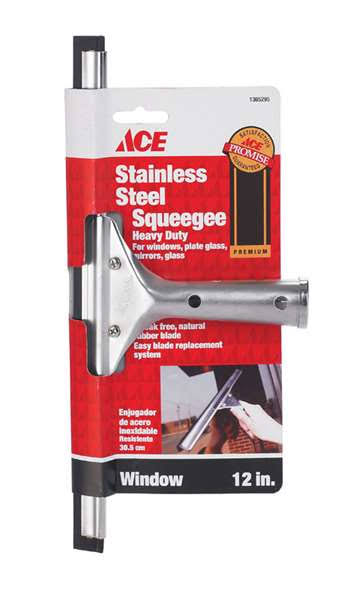 ACE Stainless Steel Squeegee - 12""