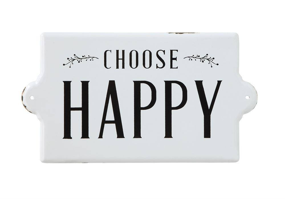 Creative Co-op 'Choose Happy' Wall Sign One-Size