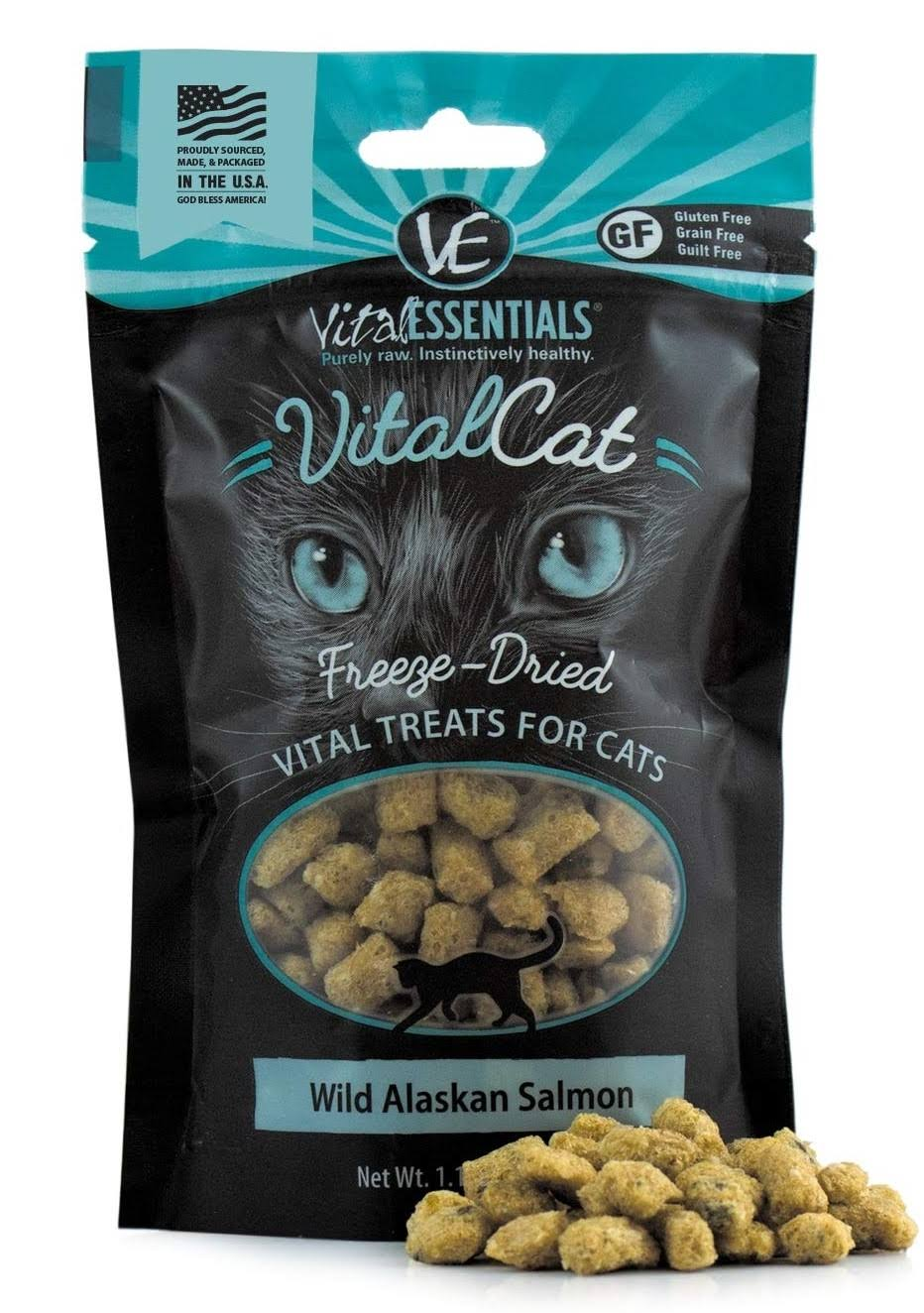 Vital Essentials Cat Freeze-Dried Wild Alaskan Salmon Treats - 1.1 oz.