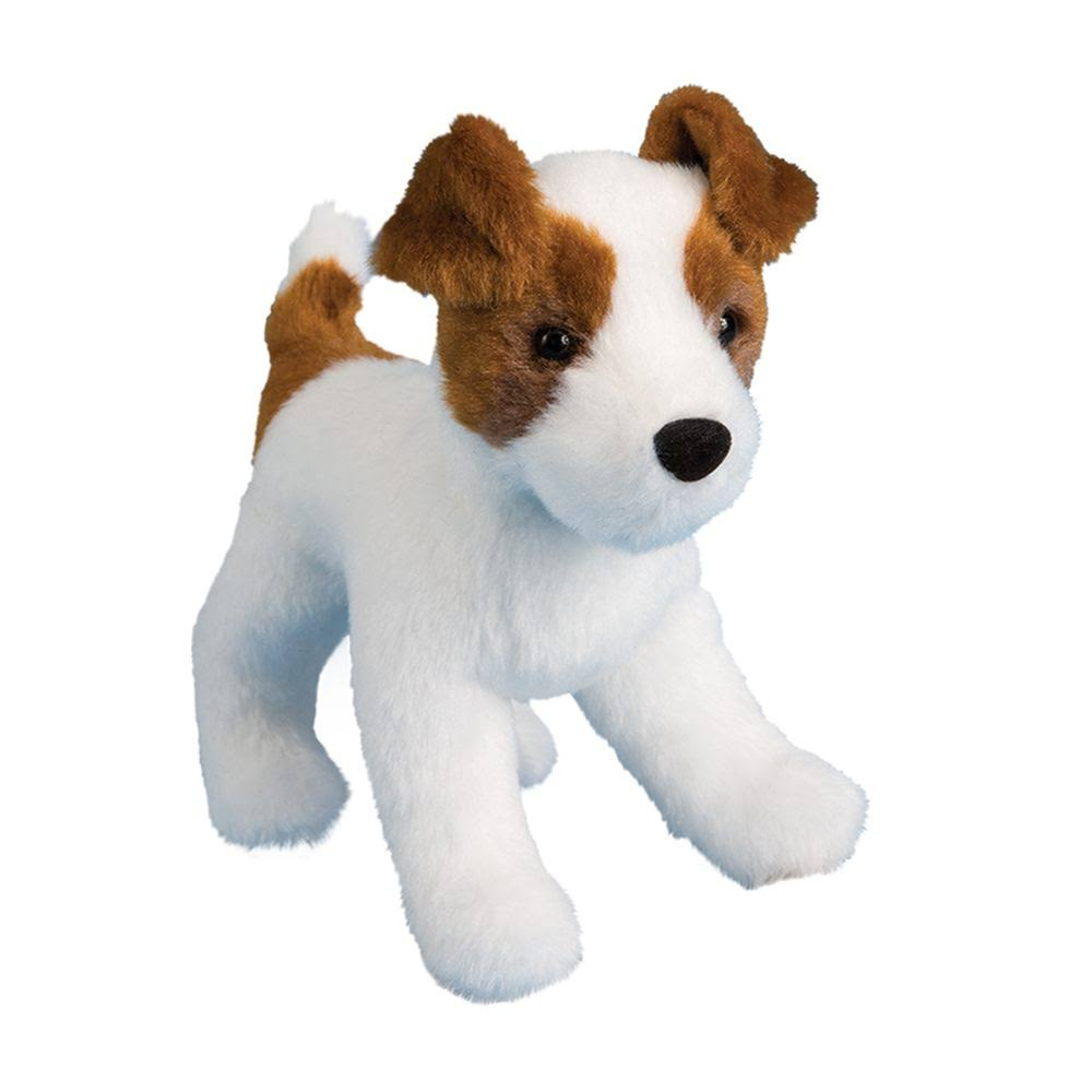 Douglas Cuddle Soft Plush Toys - Feisty Jack Russell, 7.5""