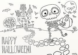 Scary Halloween Coloring Pages Online by Coloring Cool Halloween Coloring Pages