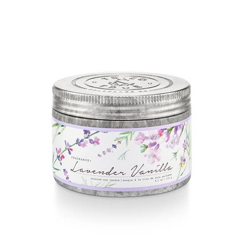 Tried & True Lavender Vanilla Small Tin Candle, 4.1 oz.