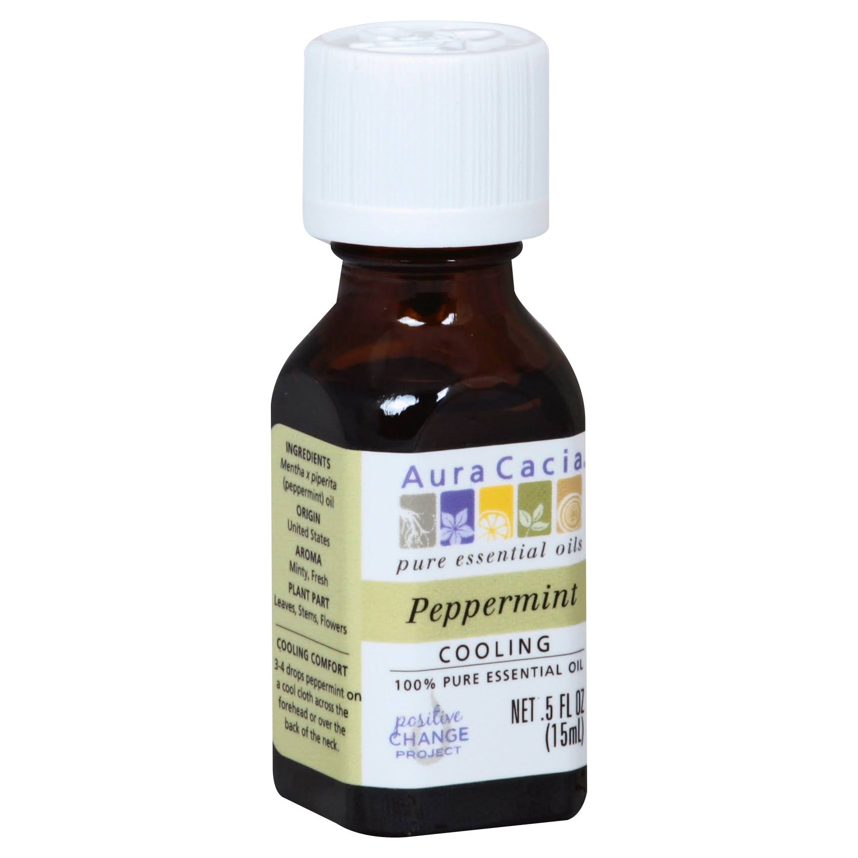 Aura Cacia Essential Oil - Peppermint, 15ml