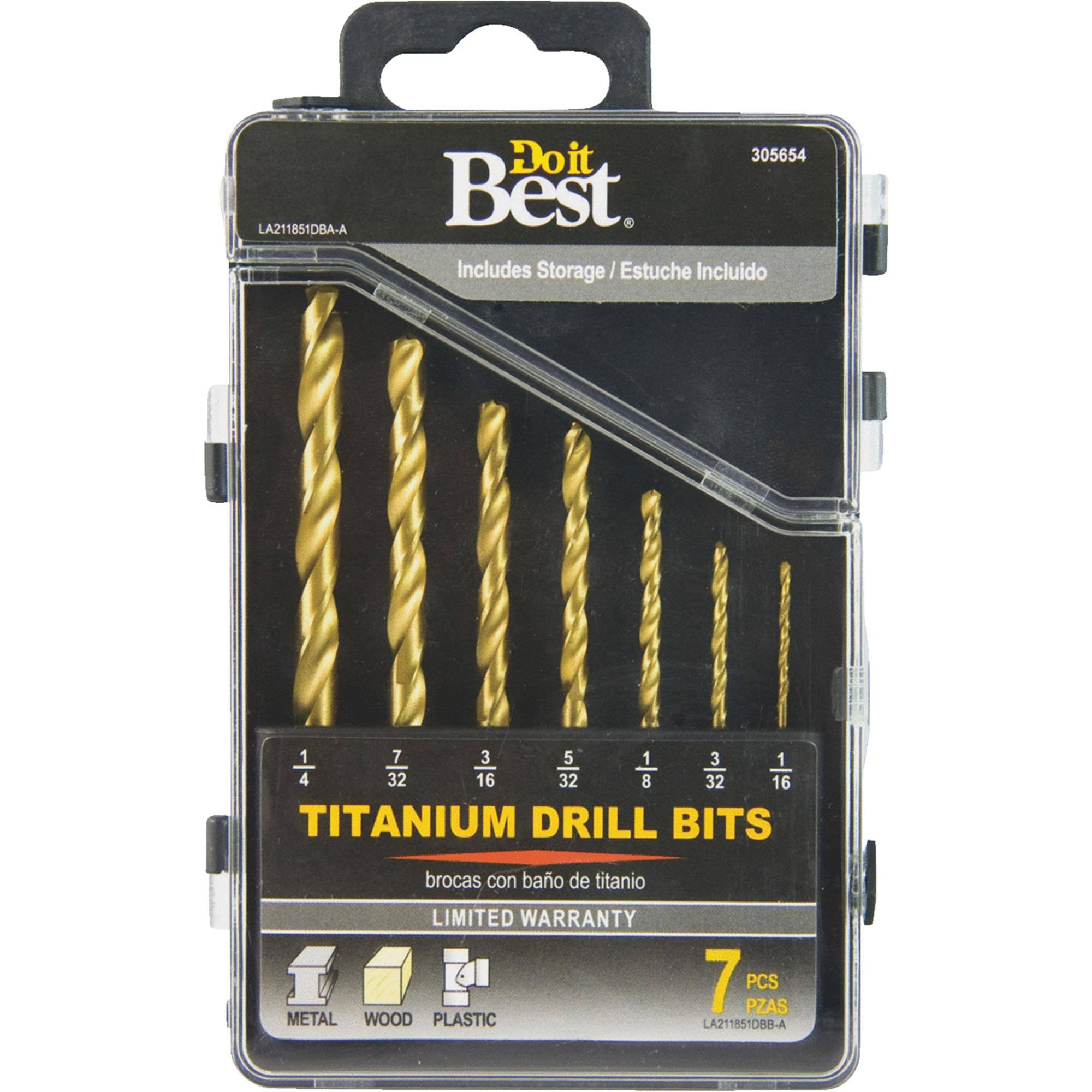 Do It Best Titanium Drill Bit Set - Set of 7