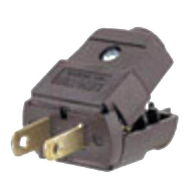 Leviton 1-15 101 Polarized Lamp Plug - Brown, 15 Amp, 125V