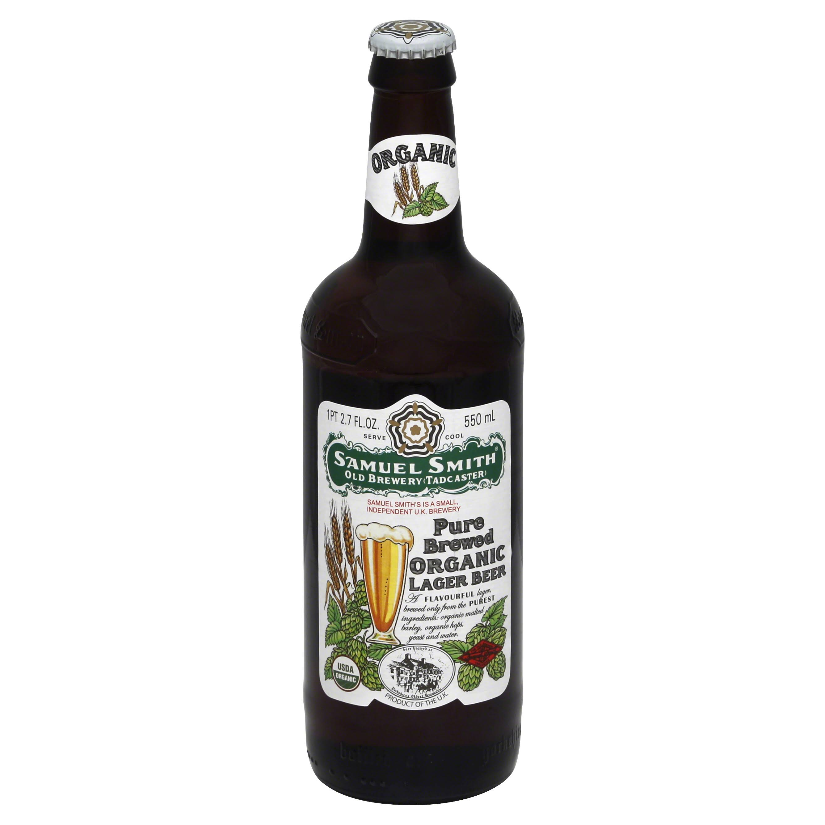 Samuel Smith Lager Beer, Organic, Pure Brewed - 18.7 fl oz