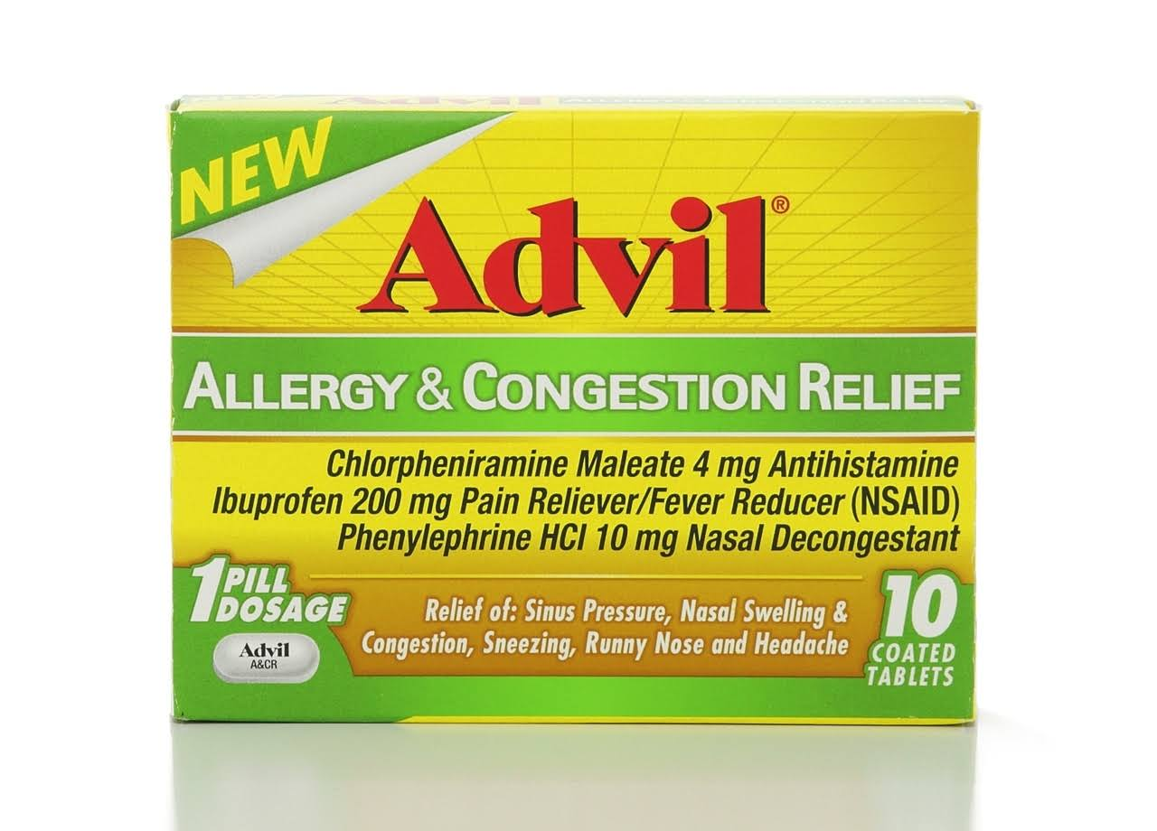 Advil Allergy & Congestion Relief - 10 Tablets