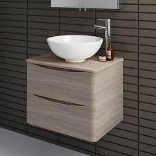 Ebay Bathroom Vanity With Sink by Modern Oak Wall Hung Bathroom Storage Vanity Unit Countertop Basin