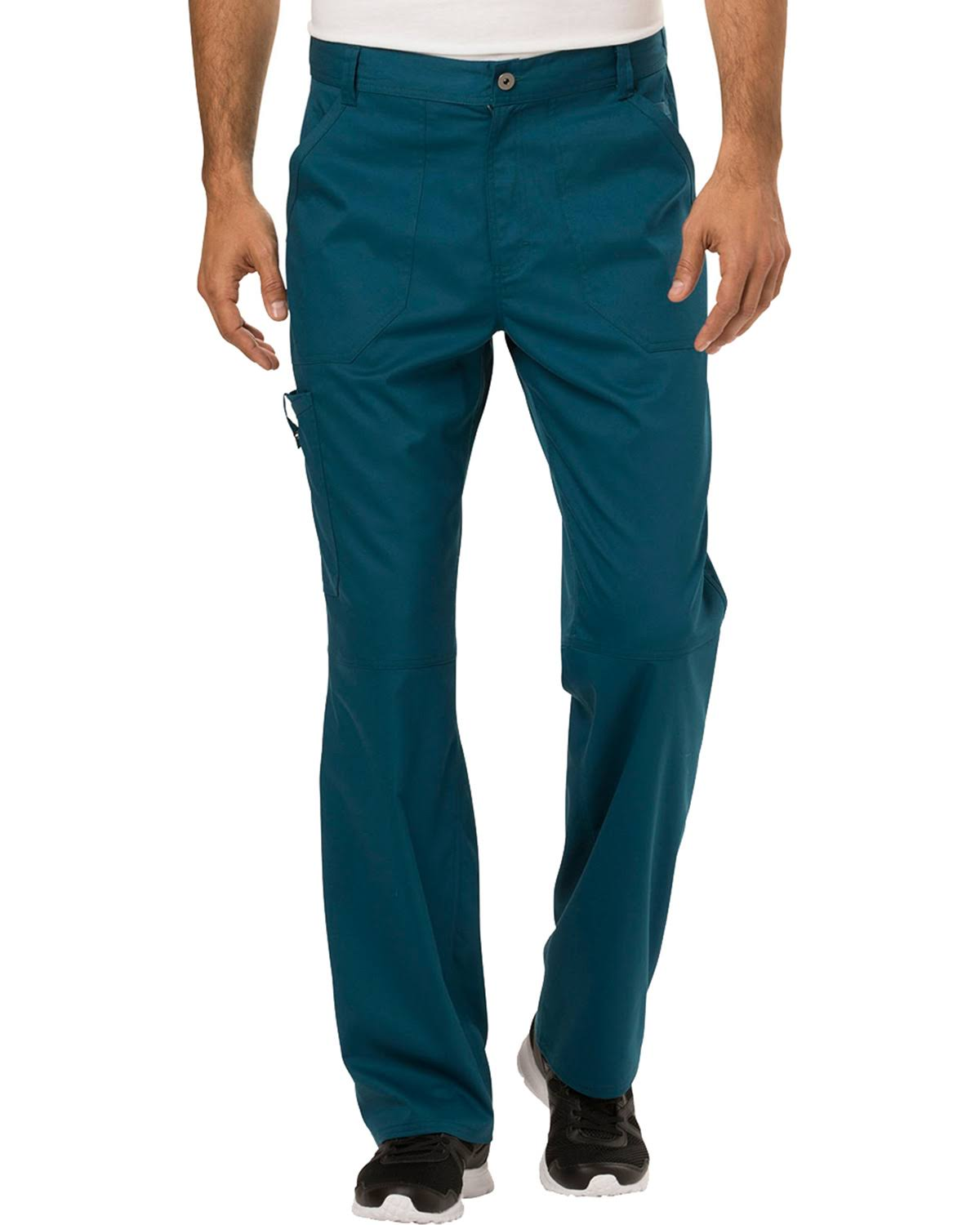 Cherokee Workwear Revolution Men's Fly Front Pant - Caribbean Blue (L)