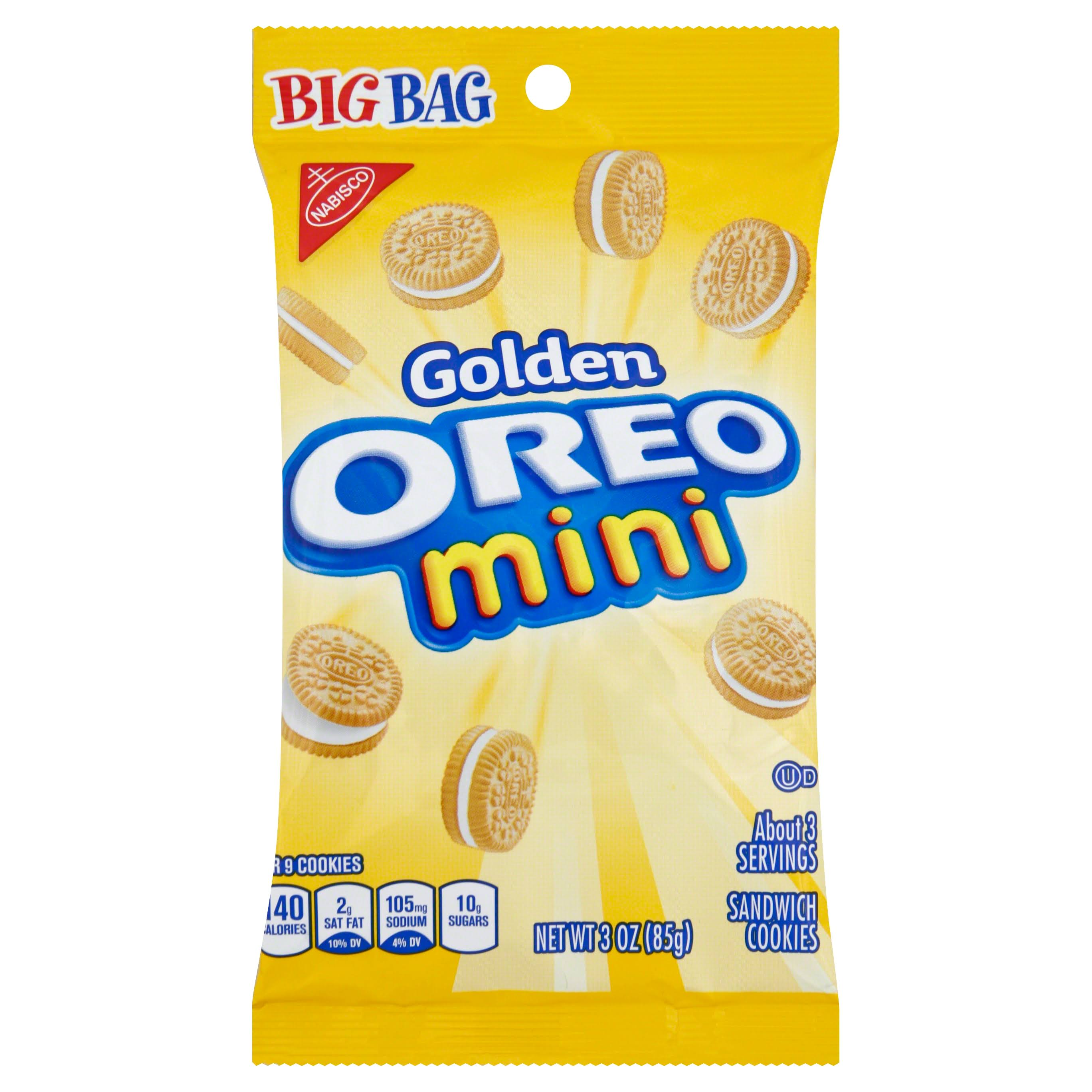 Oreo Golden Mini Cookie Big Bag - 3oz