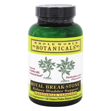Whole World Botanicals Royal Break Stone Kidney Bladder Support - 120 Capsules