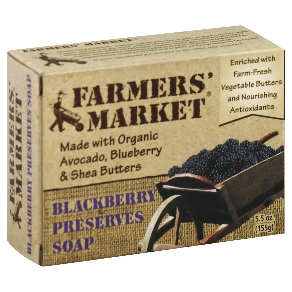 Farmers Market Soap, Blackberry Preserves - 5.5 oz