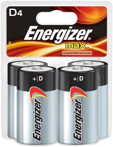 Energizer Max D Cell Batteries - 4pk