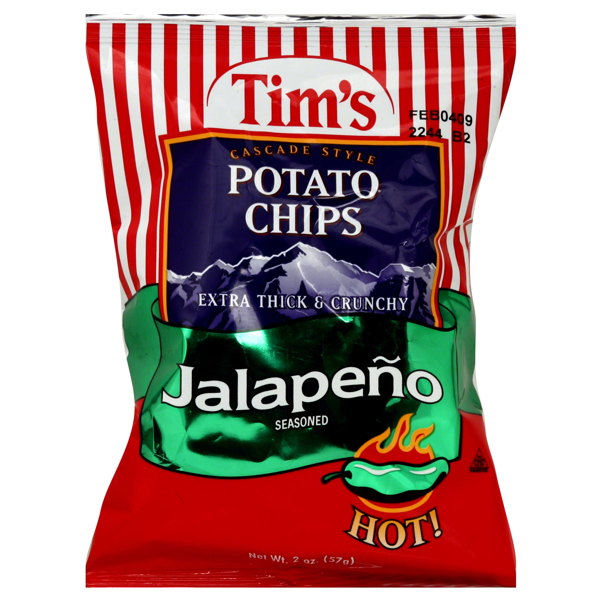 Tim's Cascade Style Jalapeno Seasoned Potato Chips