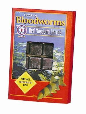 San Francisco Bay Frozen Bloodworms Fish Food - Red Mosquito Larvae, 3.5oz