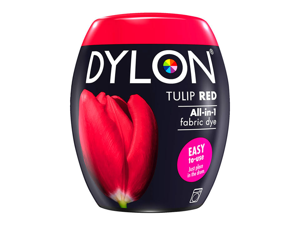 Dylon Tulip Red All in One Fabric Dye - Tulip Red, 350g